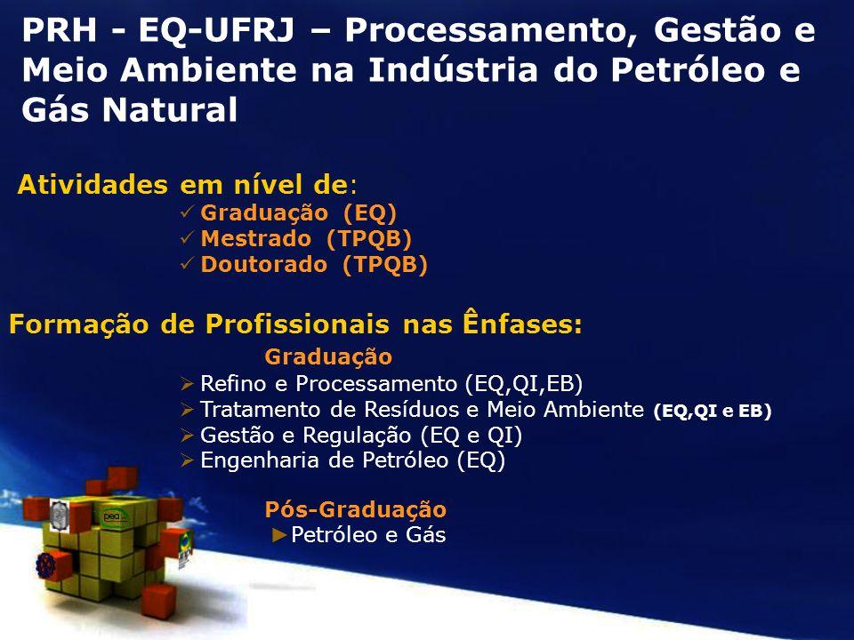 PRH - EQ-UFRJ – Processamento, Gestão e Meio Ambiente na Indústria do Petróleo e Gás Natural