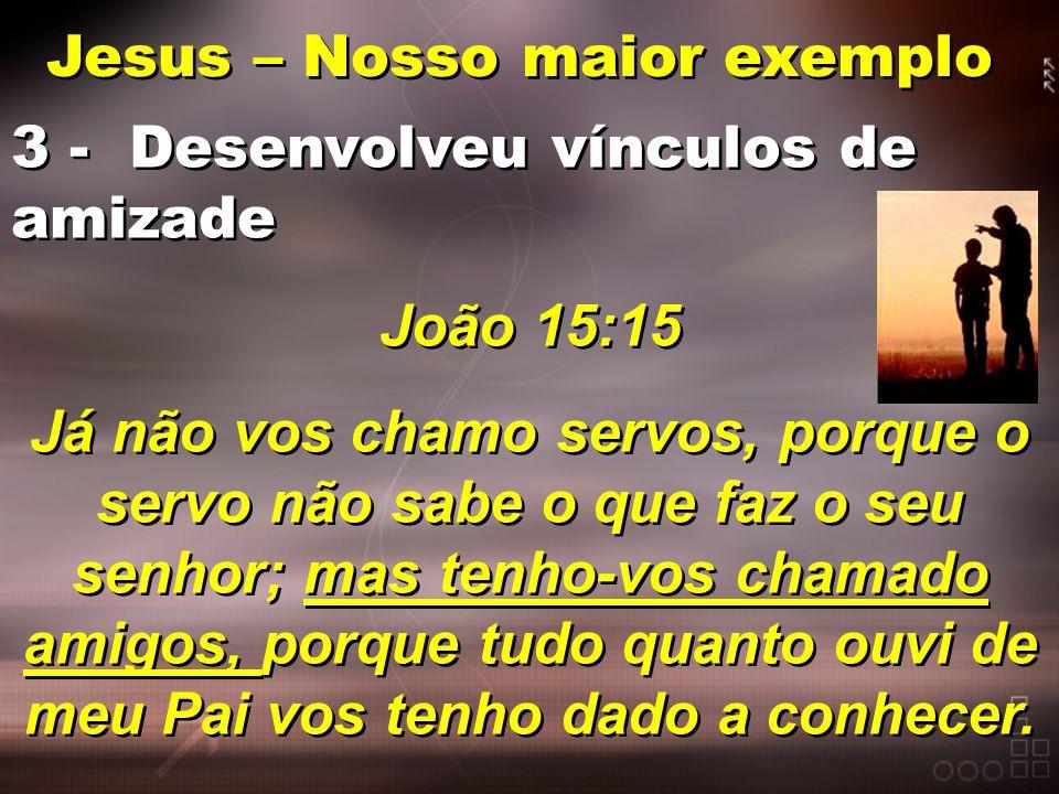 Jesus – Nosso maior exemplo