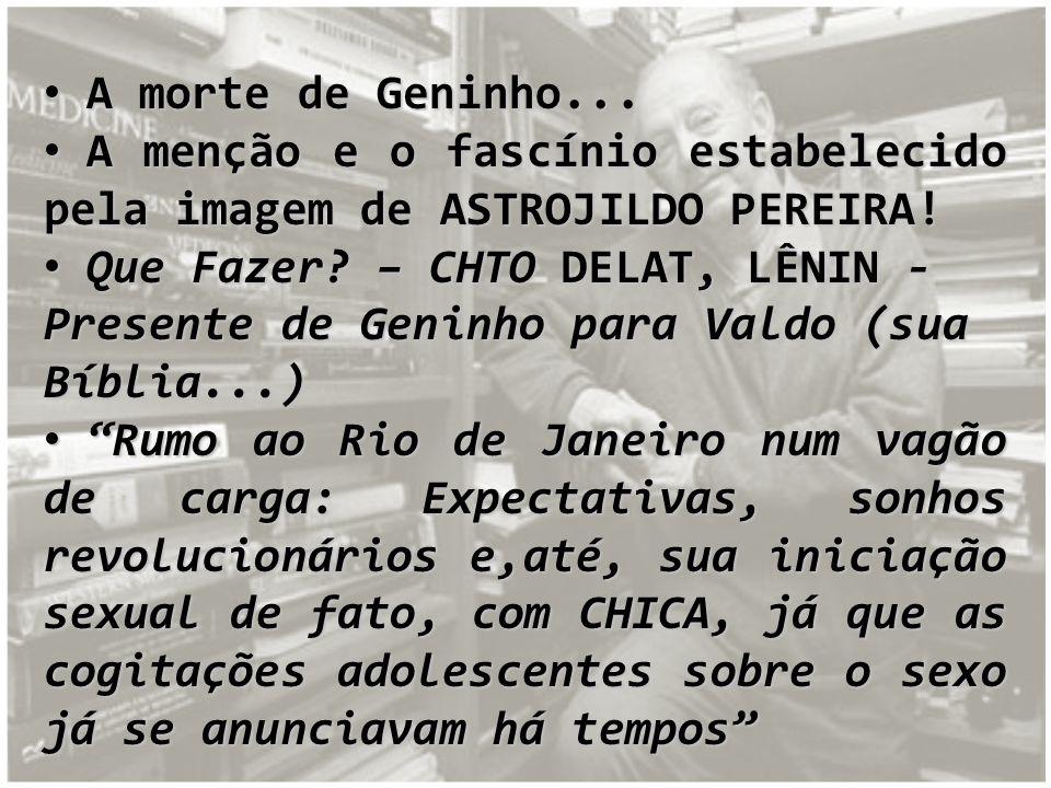 A morte de Geninho... A menção e o fascínio estabelecido pela imagem de ASTROJILDO PEREIRA!