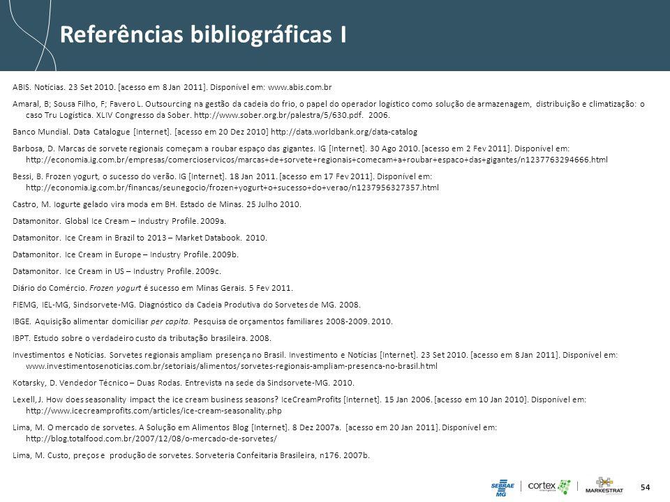 Referências bibliográficas I