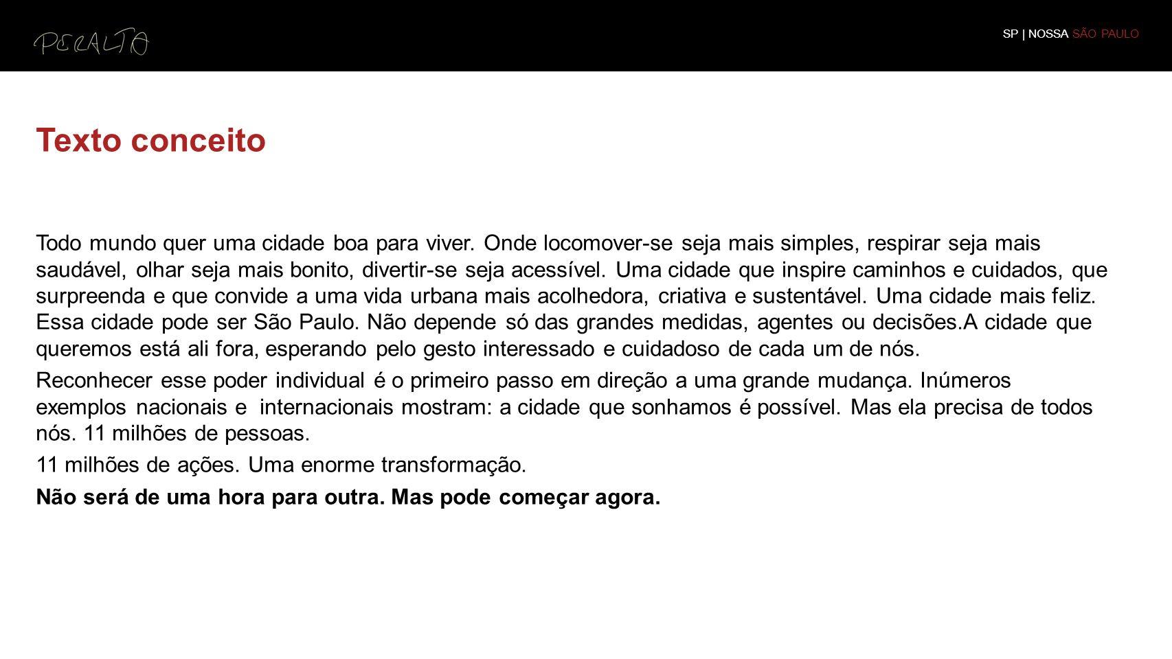 SP | NOSSA SÃO PAULO Texto conceito.