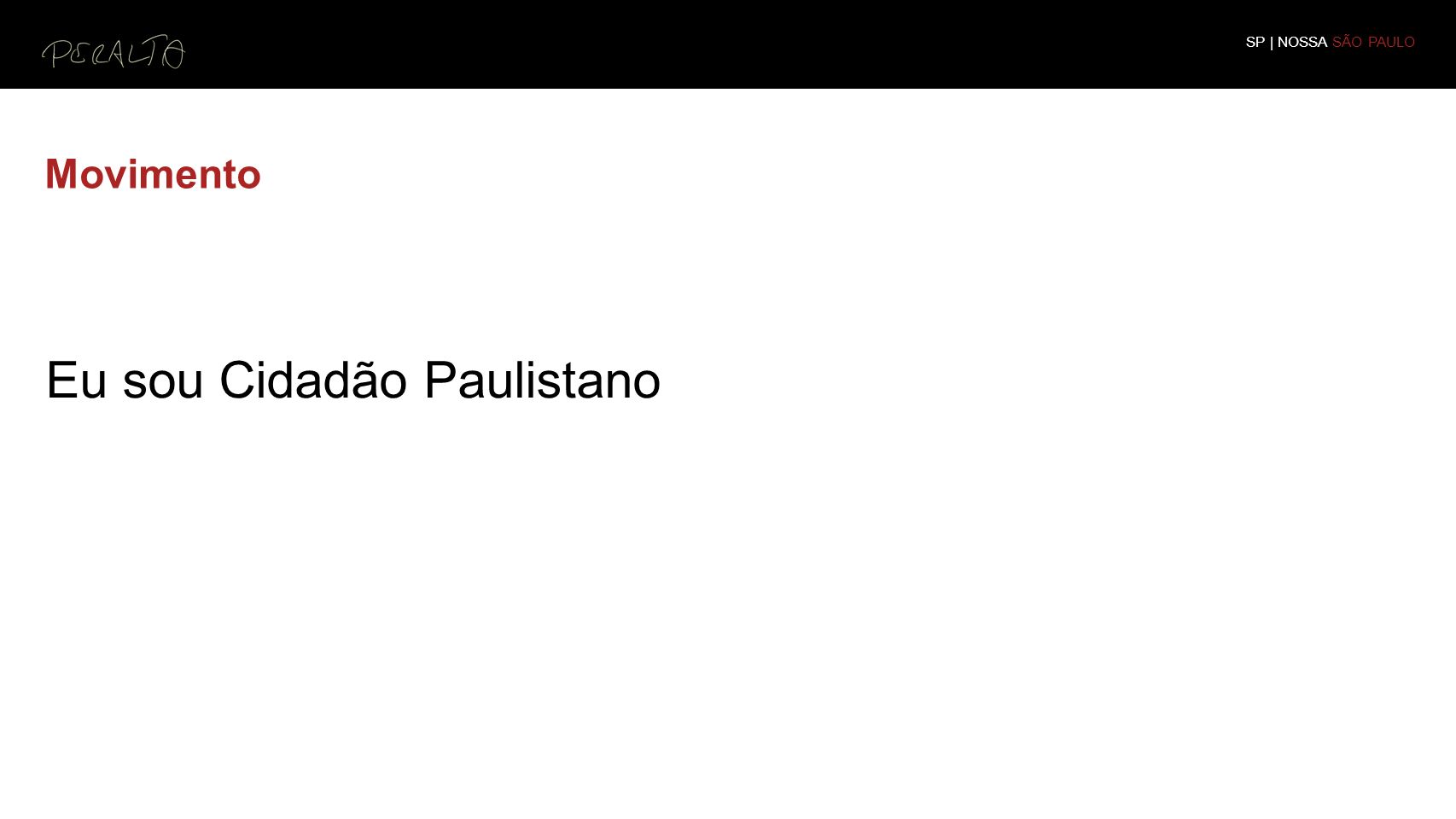 Eu sou Cidadão Paulistano
