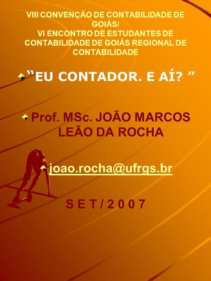 Prof. MSc. JOÃO MARCOS LEÃO DA ROCHA