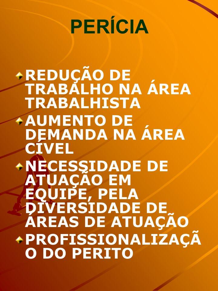 PERÍCIA REDUÇÃO DE TRABALHO NA ÁREA TRABALHISTA