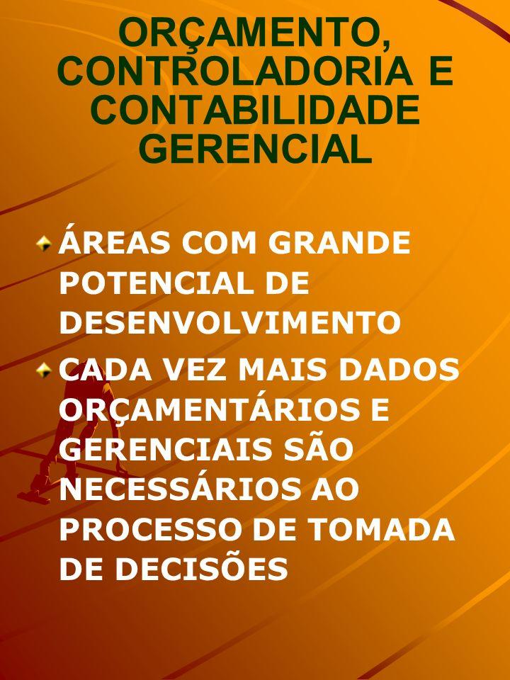 ORÇAMENTO, CONTROLADORIA E CONTABILIDADE GERENCIAL