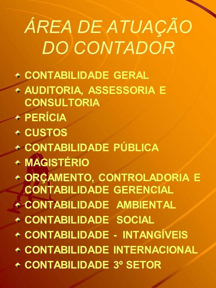 ÁREA DE ATUAÇÃO DO CONTADOR