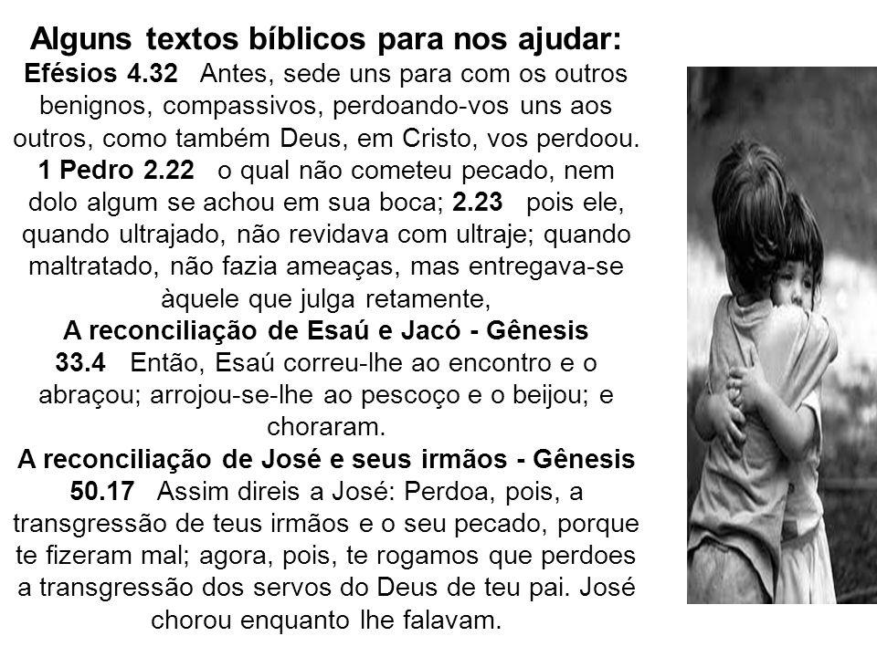 Alguns textos bíblicos para nos ajudar: