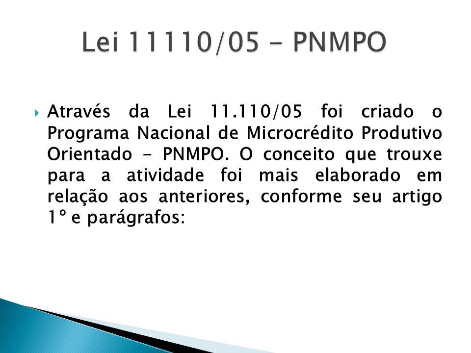 Lei 11110/05 - PNMPO