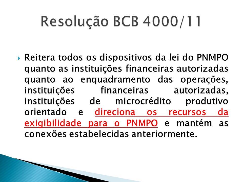 Resolução BCB 4000/11