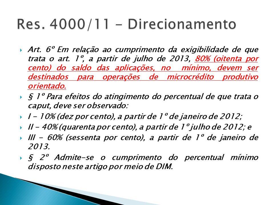 Res. 4000/11 - Direcionamento