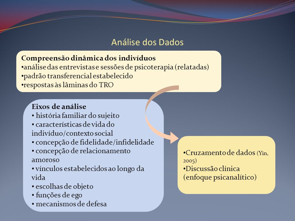 Análise dos Dados Compreensão dinâmica dos indivíduos