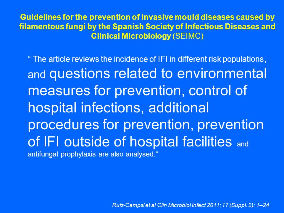 Ruiz-Campsl et al Clin Microbiol Infect 2011; 17 (Suppl. 2): 1–24