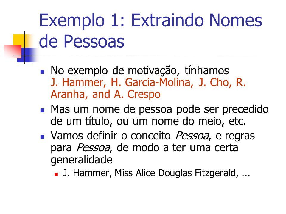 Exemplo 1: Extraindo Nomes de Pessoas