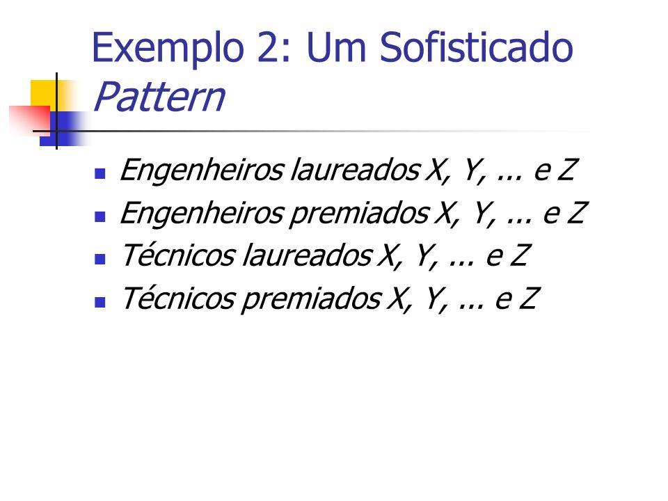 Exemplo 2: Um Sofisticado Pattern