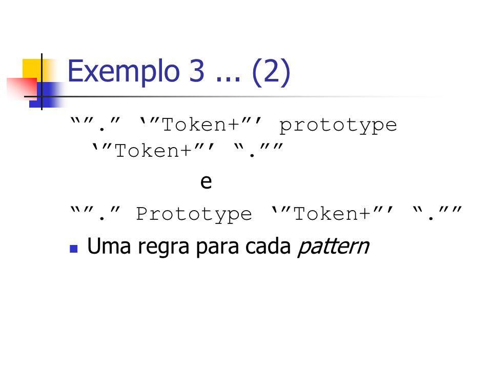 Exemplo 3 ... (2) . ' Token+ ' prototype ' Token+ ' . e