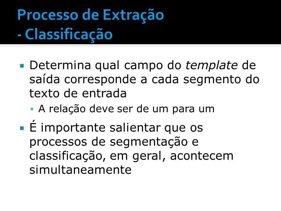 Processo de Extração - Classificação