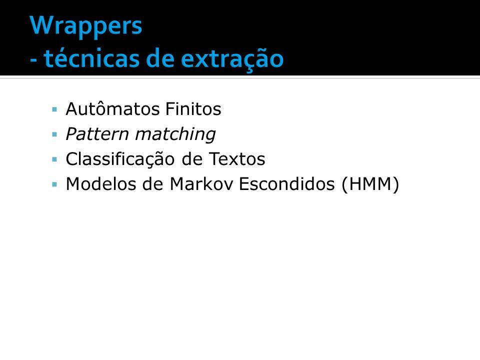Wrappers - técnicas de extração