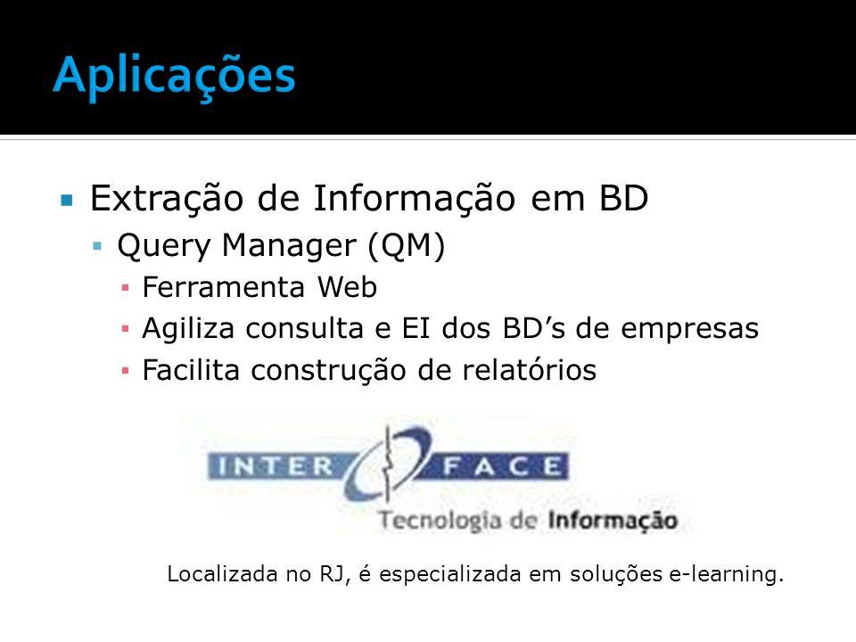 Aplicações Extração de Informação em BD Query Manager (QM)