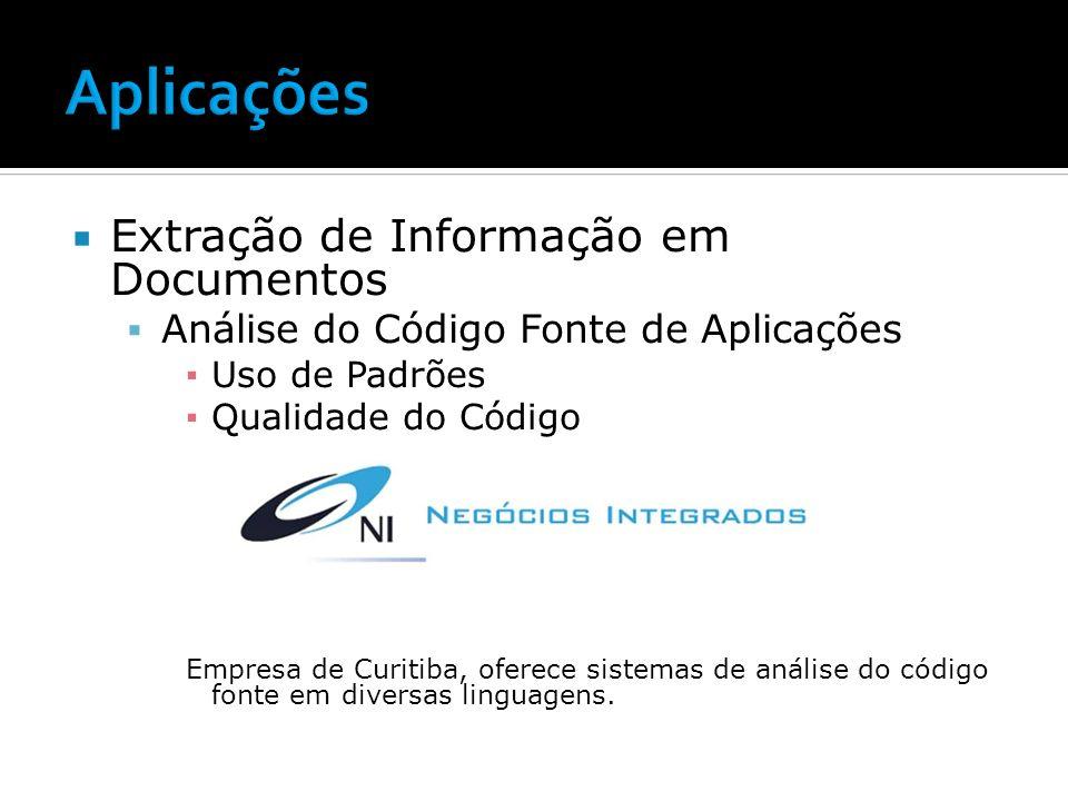 Aplicações Extração de Informação em Documentos