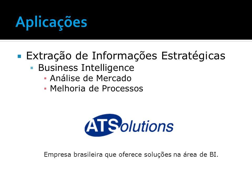 Aplicações Extração de Informações Estratégicas Business Intelligence