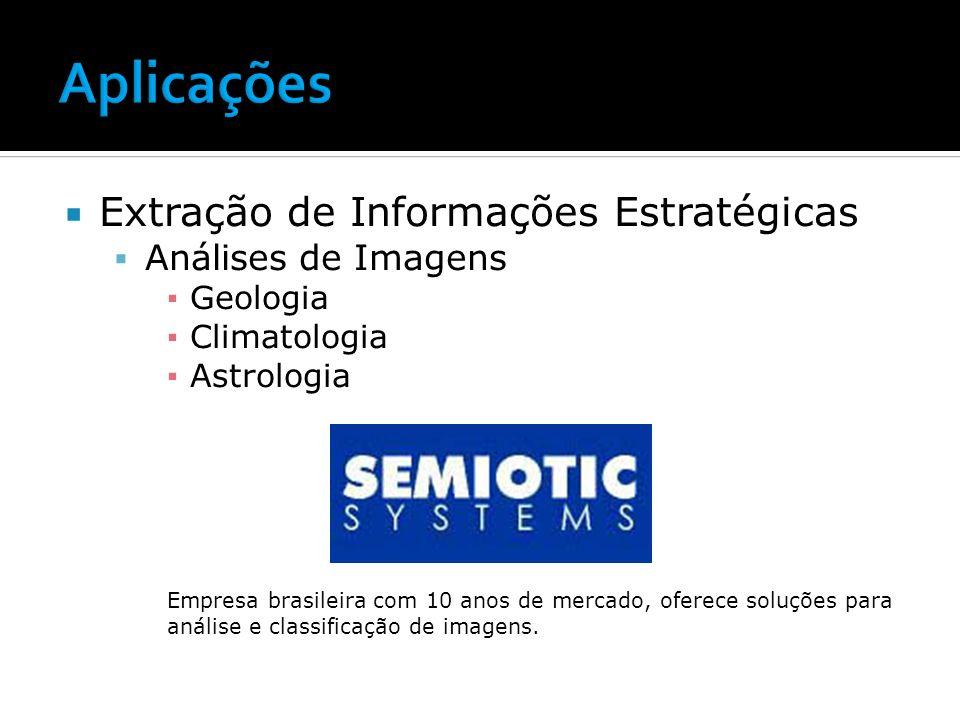 Aplicações Extração de Informações Estratégicas Análises de Imagens