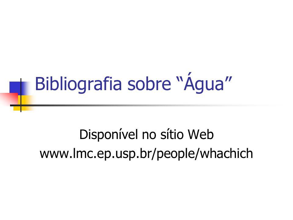 Bibliografia sobre Água