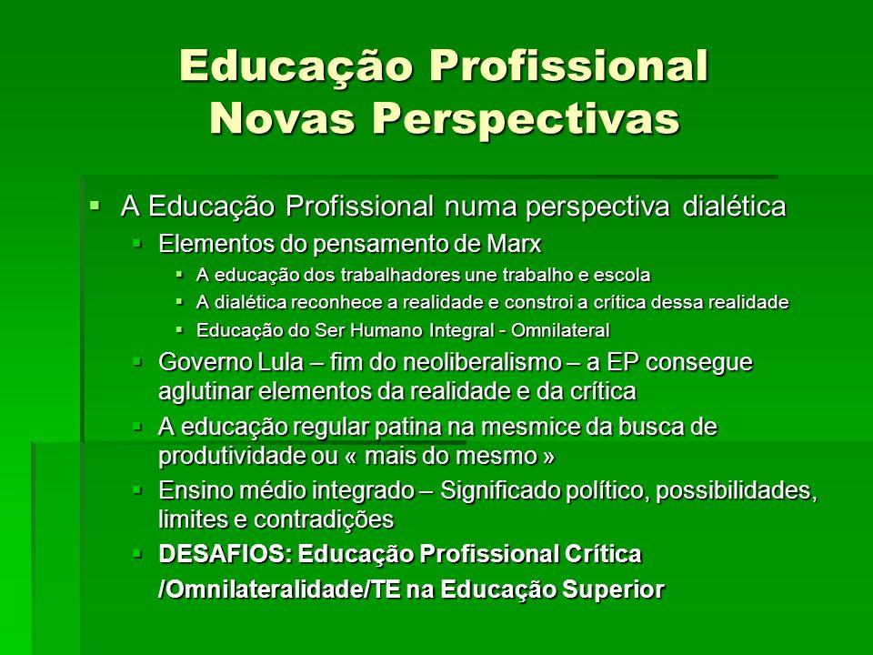 Educação Profissional Novas Perspectivas