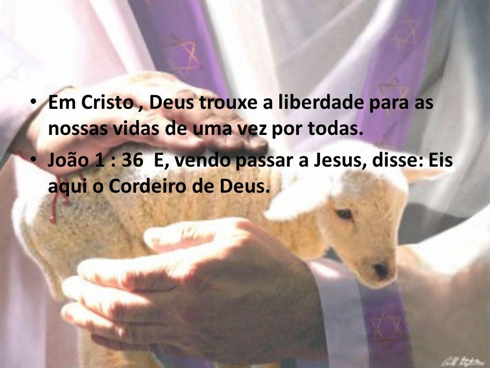 Em Cristo , Deus trouxe a liberdade para as nossas vidas de uma vez por todas.