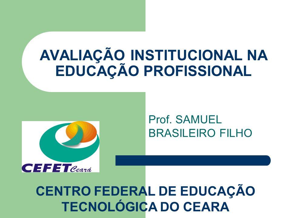 AVALIAÇÃO INSTITUCIONAL NA EDUCAÇÃO PROFISSIONAL