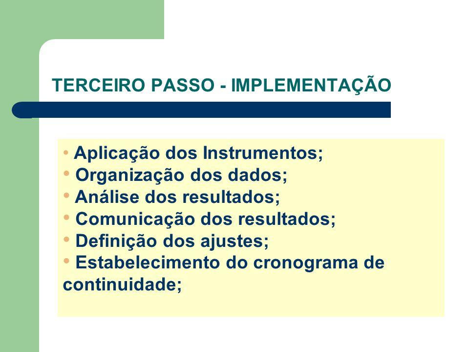 TERCEIRO PASSO - IMPLEMENTAÇÃO