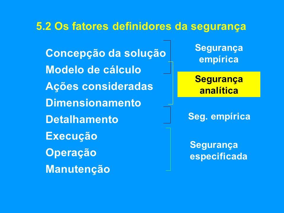 5.2 Os fatores definidores da segurança