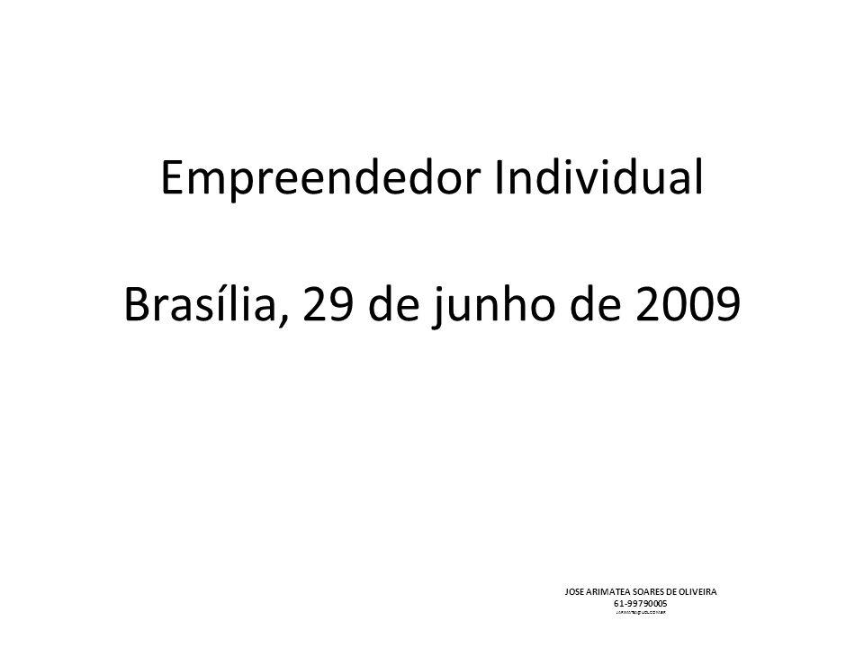 Empreendedor Individual Brasília, 29 de junho de 2009