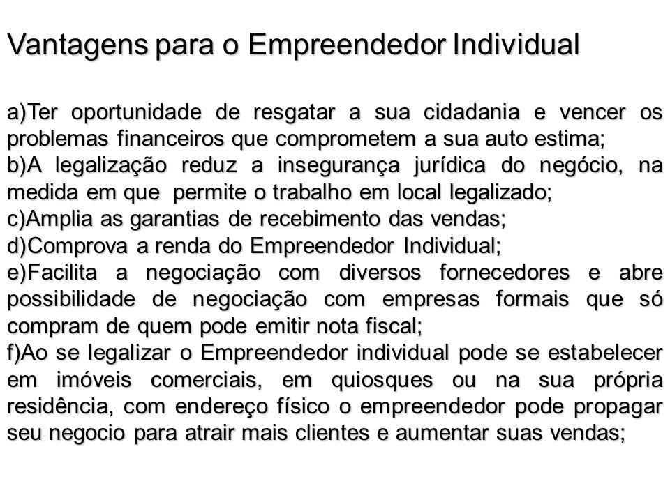 Vantagens para o Empreendedor Individual