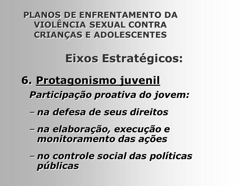 Eixos Estratégicos: 6. Protagonismo juvenil
