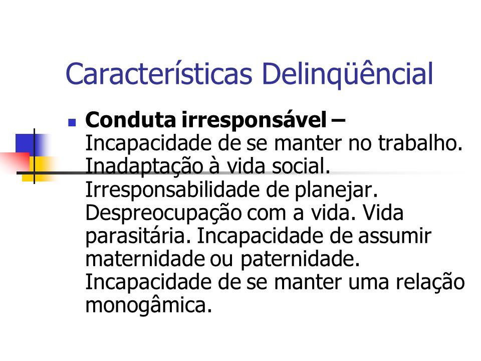 Características Delinqüêncial