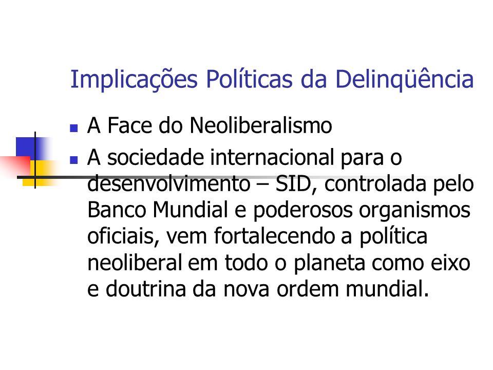Implicações Políticas da Delinqüência