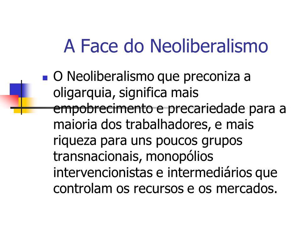 A Face do Neoliberalismo