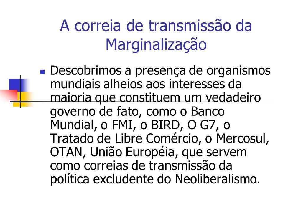 A correia de transmissão da Marginalização