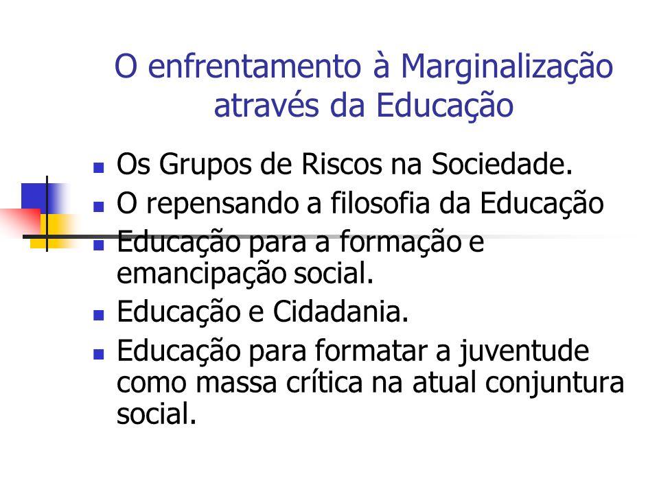 O enfrentamento à Marginalização através da Educação