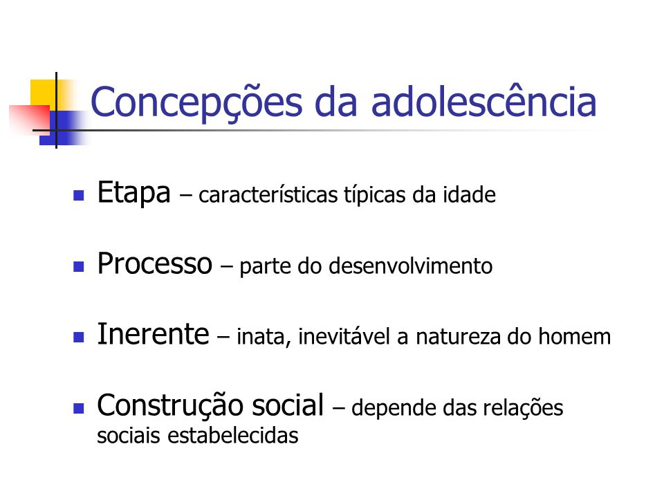 Concepções da adolescência