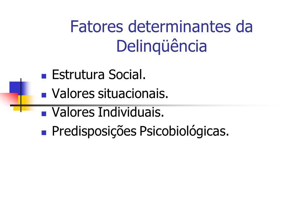 Fatores determinantes da Delinqüência
