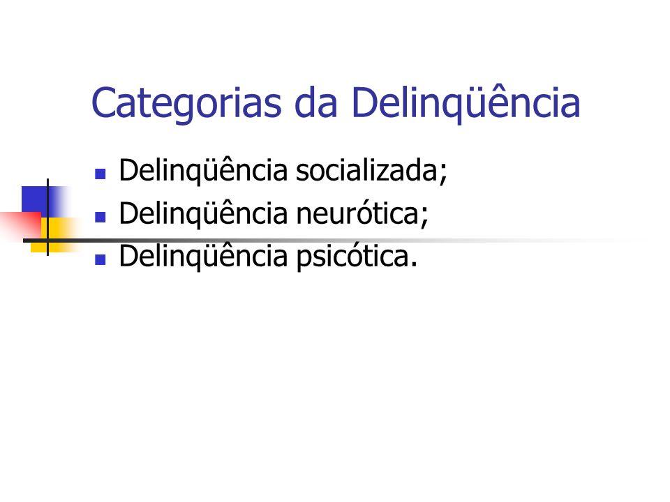 Categorias da Delinqüência
