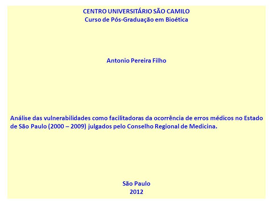 CENTRO UNIVERSITÁRIO SÃO CAMILO Curso de Pós-Graduação em Bioética