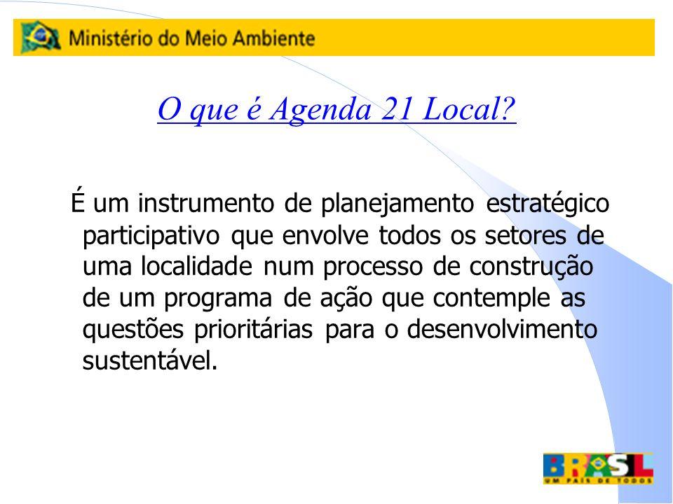 O que é Agenda 21 Local
