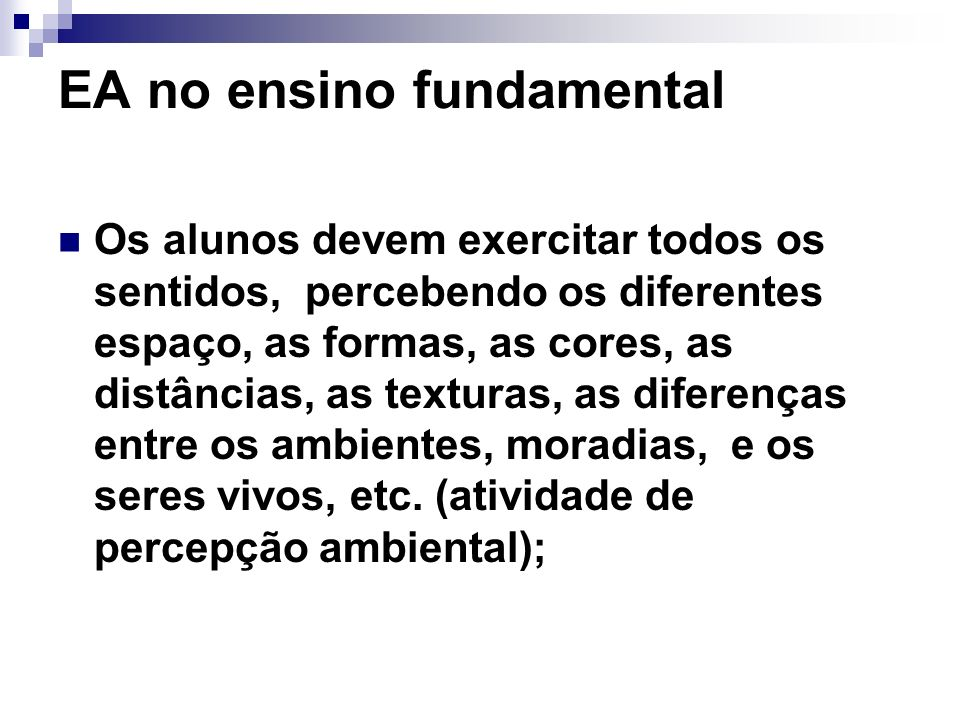 EA no ensino fundamental