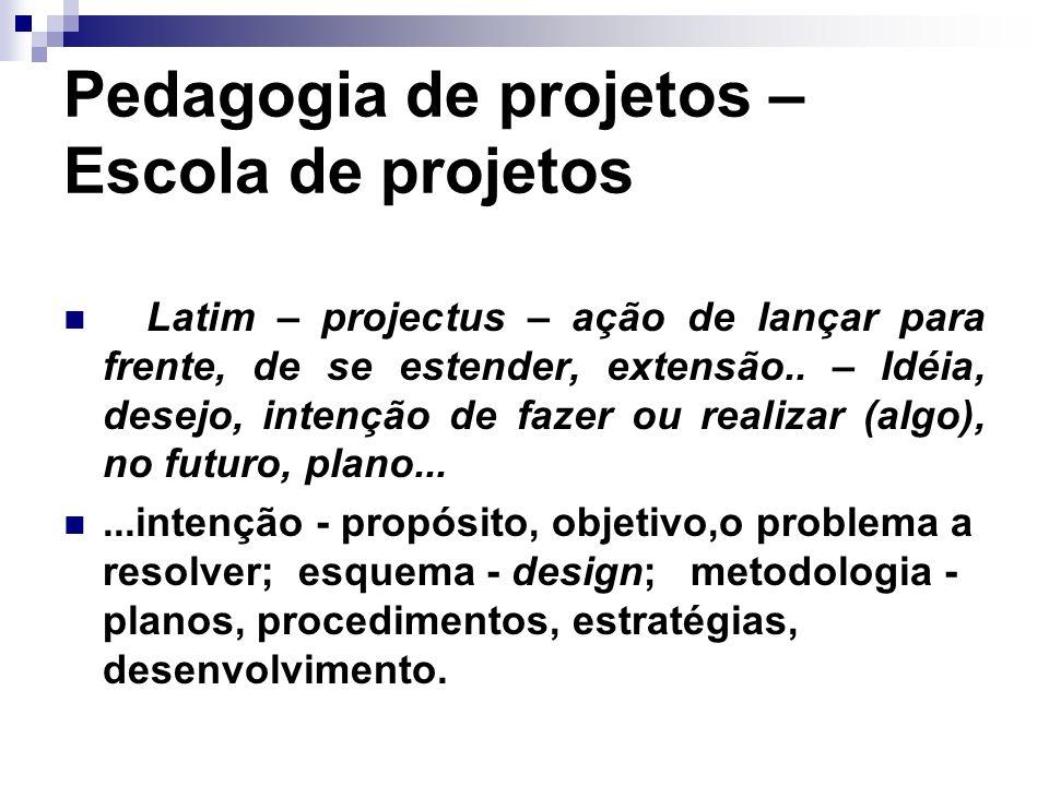 Pedagogia de projetos – Escola de projetos