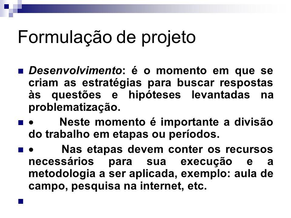 Formulação de projeto
