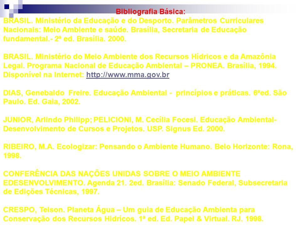 Bibliografia Básica: