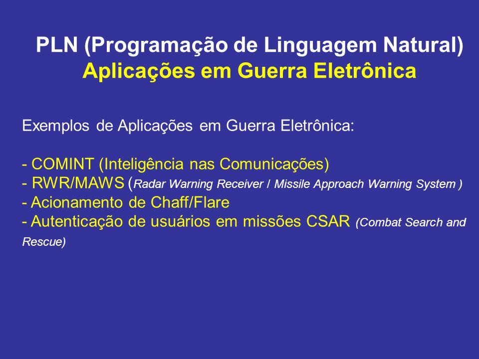 PLN (Programação de Linguagem Natural) Aplicações em Guerra Eletrônica