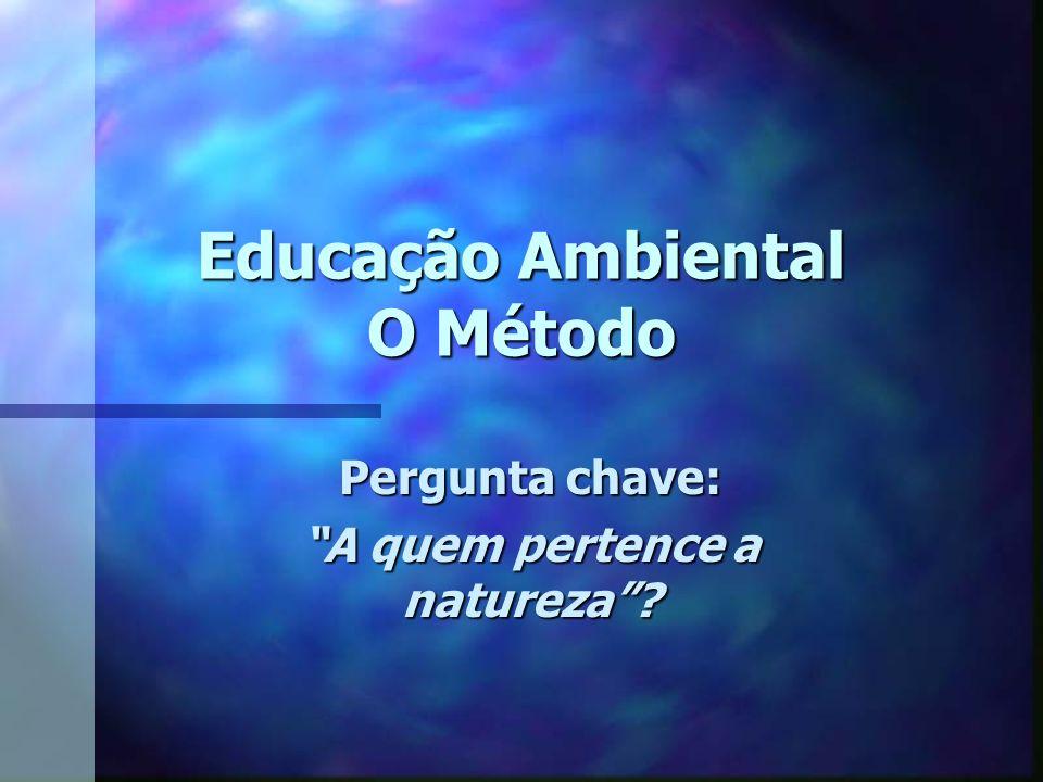 Educação Ambiental O Método